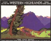 Vintage Rail travel poster - Western Highlands, Scotland, 1924